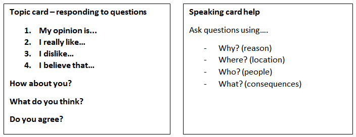 Conversation activities example