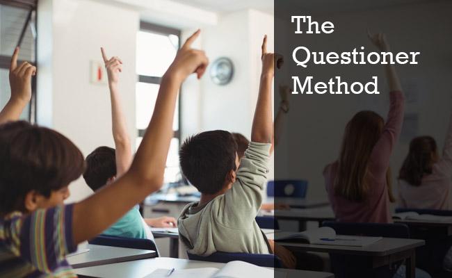 Teaching through questioner method